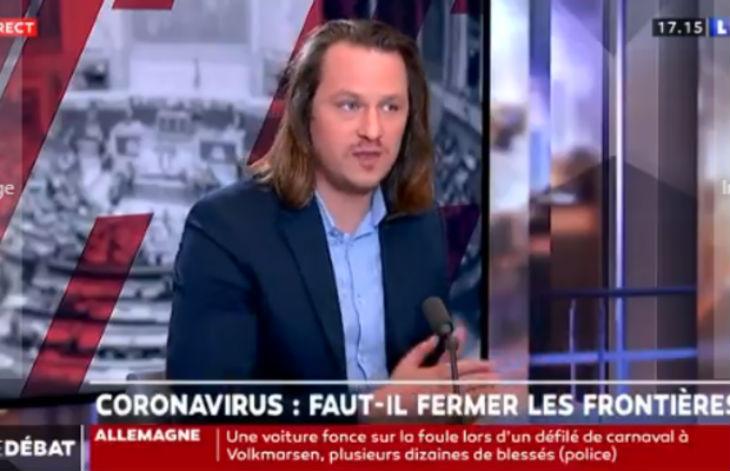 Coronavirus, par dogme l'UE ne veut pas de fermeture de frontière. Geoffroy Lejeune : « On peut empêcher une personne porteuse d'un virus de passer une frontière, le monde entier est d'accord pour dire qu'une frontière est là pour protéger » (Vidéo)