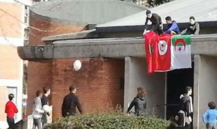 Albi: des drapeaux tunisien, algérien et marocain sur le toit de l'église Saint-Jean-Baptiste de Rayssac
