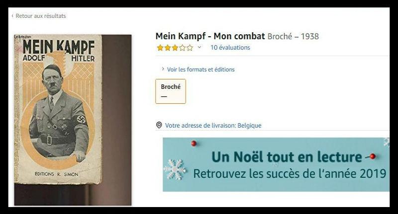 Amazon.fr, plus grande entreprise de vente d'ouvrages antisémites en français