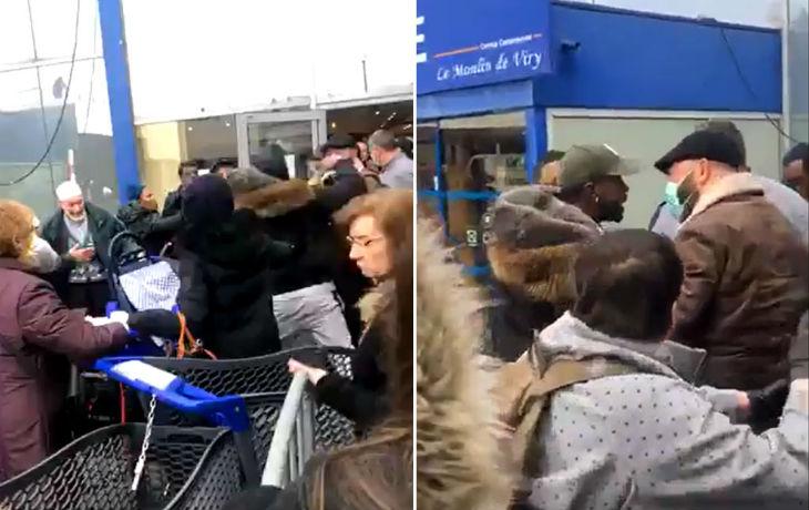Coronavirus : Violents heurts dans la file d'attente d'un supermarché de Viry-Châtillon dans l'Essonne (Vidéo)