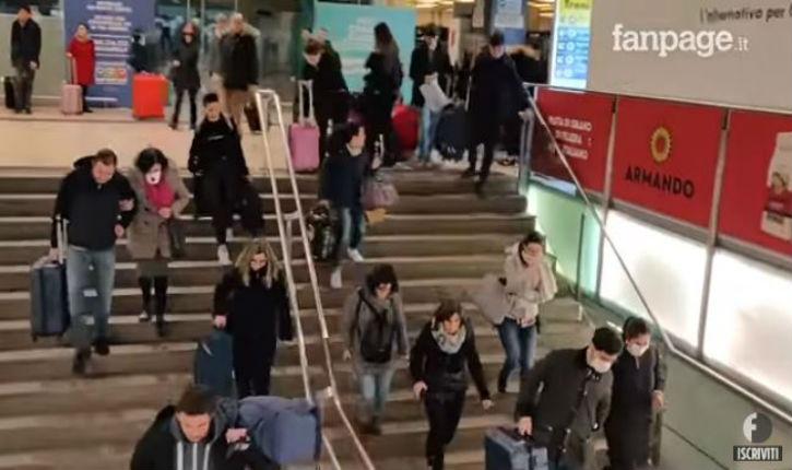 [Vidéo]Coronavirus à Milan: après l'annonce de la quarantaine, des habitants se précipitent vers la gare pour fuir la ville