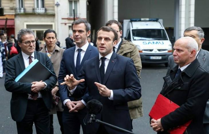 """Selon l'Elysée, Macron face au coronavirus """"c'est Clemenceau dans les tranchées"""""""