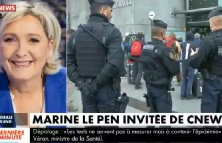 Marine Le Pen : « Dans les zones de non-droit, une partie de la population ne respecte aucune règle, aucune loi, aucune autorité. Il n'y a pas de raison qu'ils le fassent aujourd'hui. » (Vidéo)
