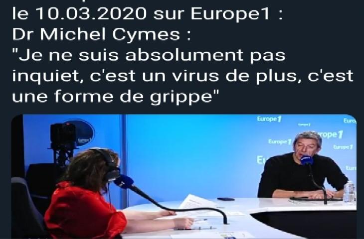Coronavirus: Quand Michel Cymès affirmait «Je ne suis absolument pas inquiet, c'est un virus de plus, c'est une forme de grippe»