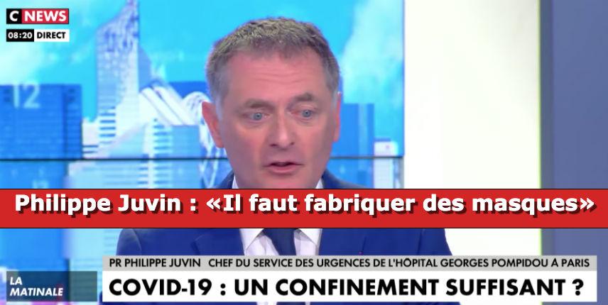 Coronavirus: L'exception française «le masque et les gants ne servent à rien»… Le professeur Juvin, chef des urgences de l'hôpital Pompidou, dénonce l'urgence «il faut fabriquer des masques» (vidéo)