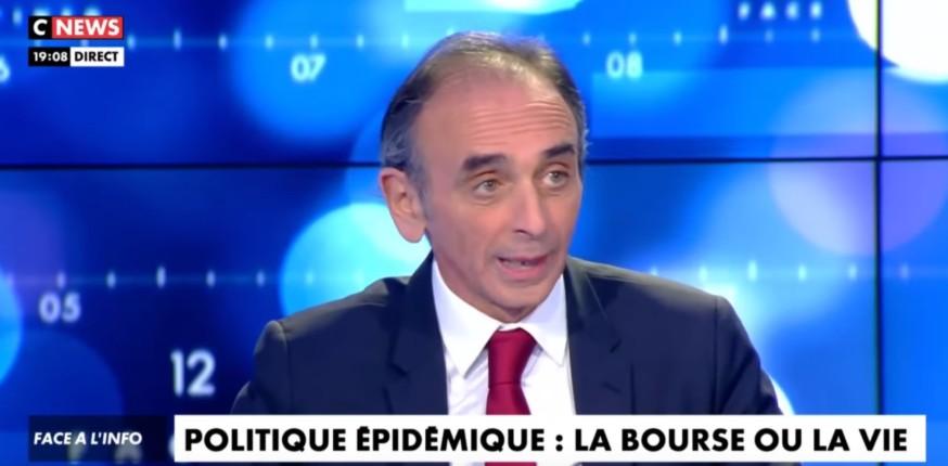 Zemmour sur le confinement et le manque de tests massif : «Mais on est quoi ? Au Gabon ? L'Etat est désorganisé et incapable de prévoir. La pseudo-guerre de Macron, c'est ridicule» (Vidéo)
