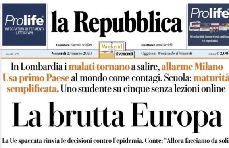 """L'Italie en colère contre l'UE : Une Europe """"laide"""", """"morte"""" et """"lâche"""", « Conte dit à une Europe morte d'aller se faire foutre »"""