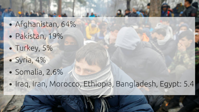 Grèce : seuls 4% des migrants arrêtés à la frontière gréco-turque sont réfugiés syriens, la plupart sont afghans, pakistanais et turcs !