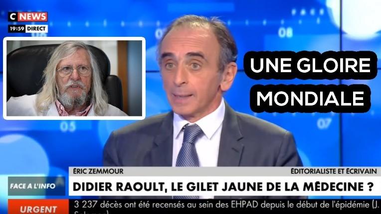 Eric Zemmour : «Didier Raoult contredit nos élites depuis des semaines. Ce n'est pas un gaucho, c'est un Gaulois réfractaire !» (Vidéo)
