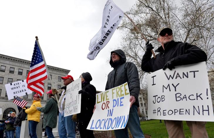 Aux Etats-Unis, en Allemagne, en Italie, en Autriche ou en Suisse, les manifestations anti-restrictions se multiplient