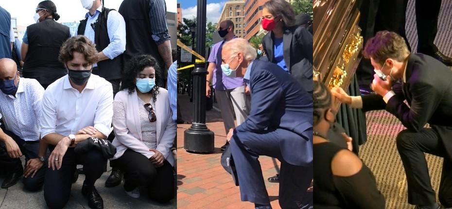 [Vidéo] Quand la gauche honore un délinquant drogué: Trudeau, Biden, le maire de Minneapolis, les sénateurs démocrates mettent le genou à terre pour George Floyd…