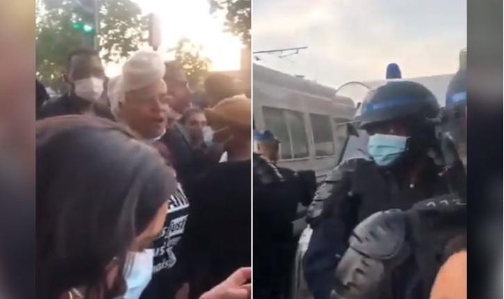 [Vidéo] Manifestation pour Adama Traoré : un policier traité de «vendu» par des manifestants, parce que noir. Il décide de déposer plainte