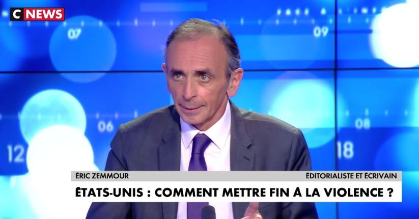 Zemmour sur les émeutes d'extrême gauche aux USA : «Ils veulent importer la guerre raciale en France. Les Noirs sont d'abord tués par des Noirs à 97%» (Vidéo)