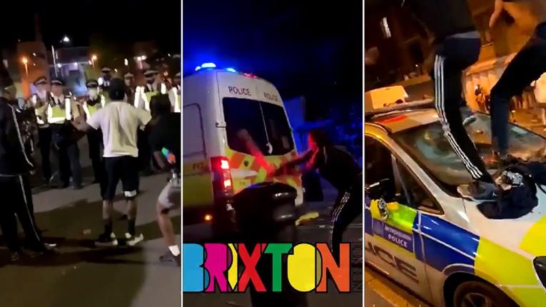 Londres : une fête «racisée» illégale tourne à l'émeute sauvage, des voitures de police saccagées, 22 policiers blessés (Vidéo)