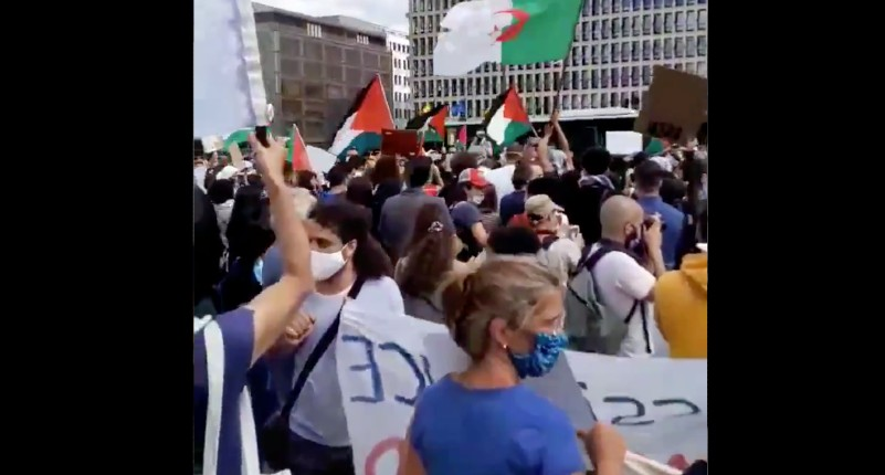 Bruxelles : des maghrébins scandent des slogans antisémites lors d'une manifestation pro-palestinienne (Vidéo)