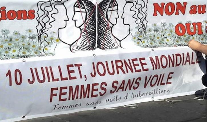 10 juillet, Journée mondiale des femmes sans voile : selon les féministes et laïques, le voile islamique est le symbole d'une «domination religieuse, patriarcale et sexiste»