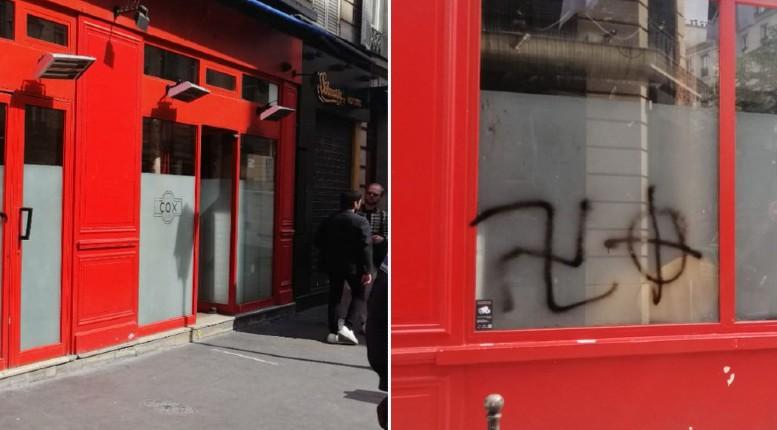 Le quartier du Marais à Paris en état de choc après la découverte de croix gammées sur la devanture de 2 bars gay emblématiques
