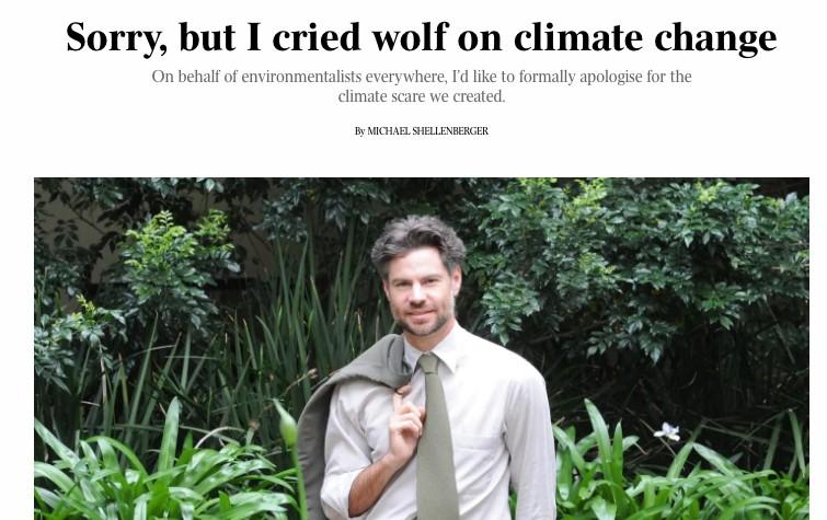 Quand un éminent expert écologiste, qui a lutté toute sa vie contre le changement climatique, s'excuse pour « la panique climatique que nous avons créée au cours des 30 dernières années. Nous avons gravement induit le public en erreur »