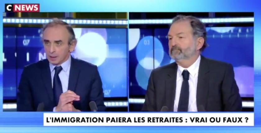 Éric Zemmour « Chaque immigré coûte 4 fois ce qu'il rapporte. Sans même évoquer les problèmes de «vivre ensemble»… Il y a une vraie cassure entre ce que prétend l'idéologie pro-immigration et les conséquences réelles. » (Vidéo)