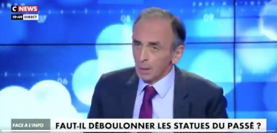 Zemmour « Il y a une volonté de détruire l'Histoire d'un peuple, d'une civilisation pour l'éradiquer et la remplacer. L'enjeu c'est la destruction de la France » (Vidéo)