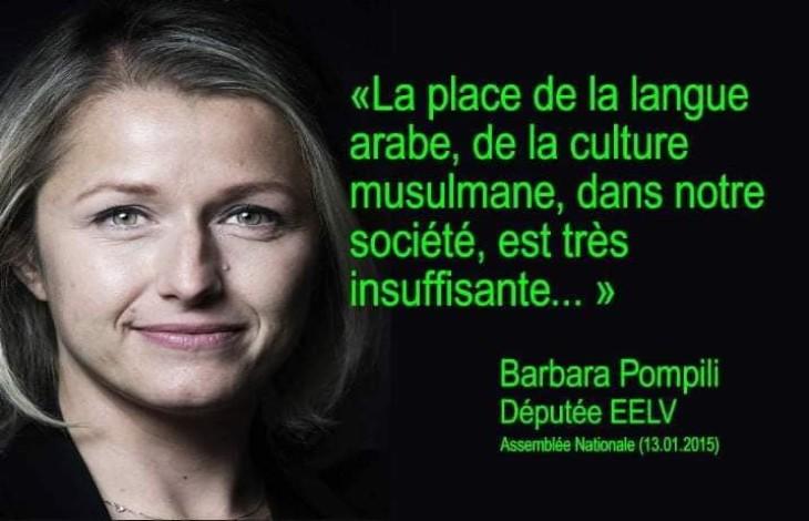 Quand Barbara Pompili estimait que «la place de la langue arabe, de la culture musulmane, dans notre société, est très insuffisante»