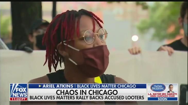 """Chaos à Chicago: Black Lives Matter légitime et encourage les violents pillages """"c'est une réparation"""" (Vidéo)"""