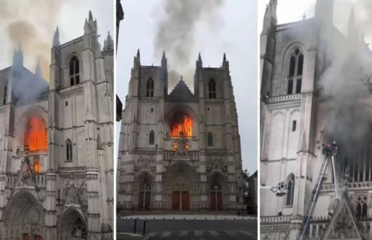 Nantes : le Rwandais bénévole du diocèse a mis le feu à la cathédrale car il était « frustré » de sa situation de migrant, il devait être expulsé