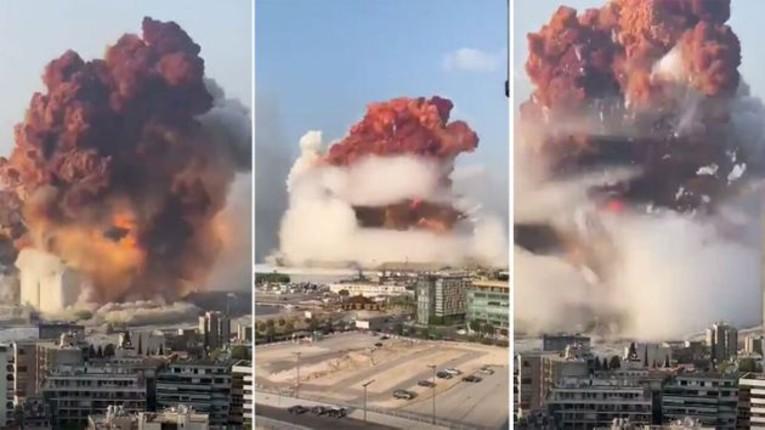 Explosions massives à Beyrouth: Plus de 100 morts et 4000 blessés. 2.750 tonnes de nitrate d'ammonium à l'origine des explosions. Les dégâts filmés à vol d'oiseau (Vidéo)