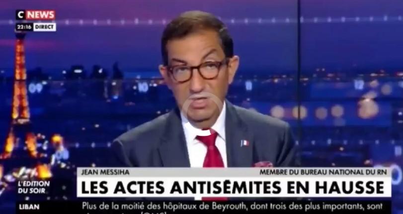 « La résurgence de l'antisémitisme s'explique par le fait que la France est de moins en moins la France » estime Jean Messiha sur CNews (Vidéo)
