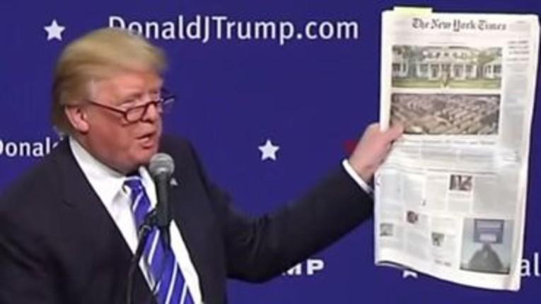 « Trump a payé 750 $ d'impôts en 2016 et 2017 », la Fake news du New York Times qui contredit celle de CNN… quand une Fake news en chasse une autre