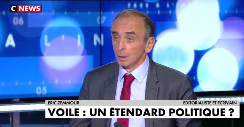 """Zemmour : """"Avec le voile et les djellabas, on veut rendre l'islam visible, on veut coloniser l'espace, pour dire que la France est une terre d'Islam"""" (Vidéo)"""
