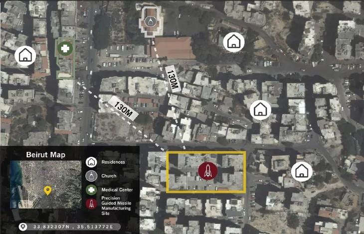 Liban: Tsahal dévoile les emplacements des dépôts d'armes du Hezbollah, «il détient un entrepôt secret de missiles dans un quartier résidentiel de Beyrouth» (Vidéo)