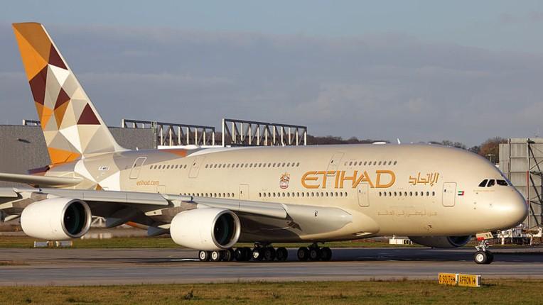 Etihad Airways atterit en israel