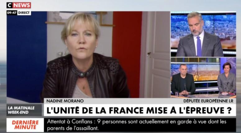 """Nadine Morano, """"Macron, dirigeant des infidèles"""": """"Il parle de tous les Français là. Combien de mosquées où des imams prêchent contre la France ont été fermées ? Il faut arrêter de laisser venir en France !"""" (Vidéo)"""