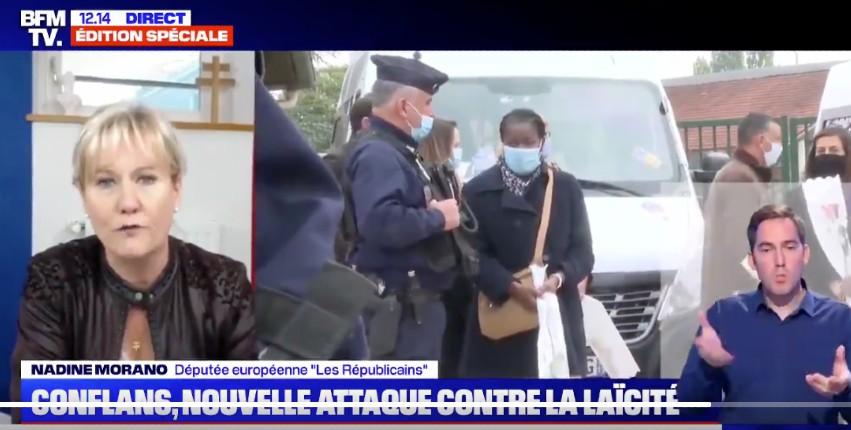Nadine Morano «la sémantique et les bougies ça suffit ! Il faut des actes, il faut expulser les 3000 fichés S étrangers, fermer les mosquées salafistes» (Vidéo)