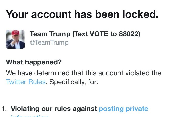 Team Trump censuré