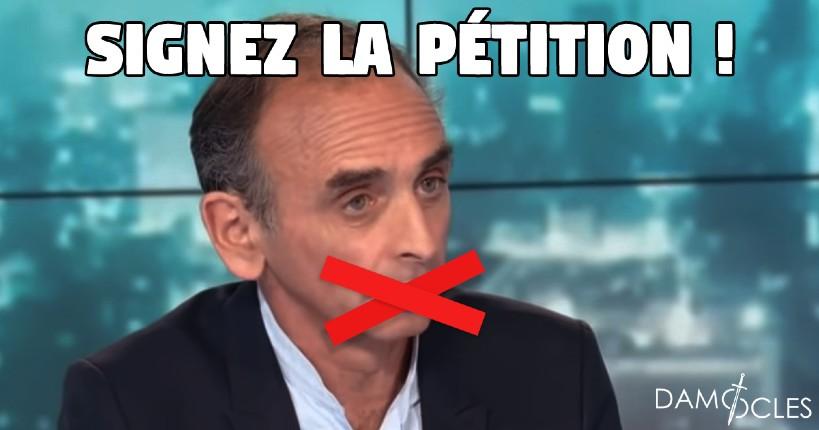 Pétition : «Je soutiens Zemmour, non à la censure, oui à la liberté d'expression», déjà 125 000 signatures