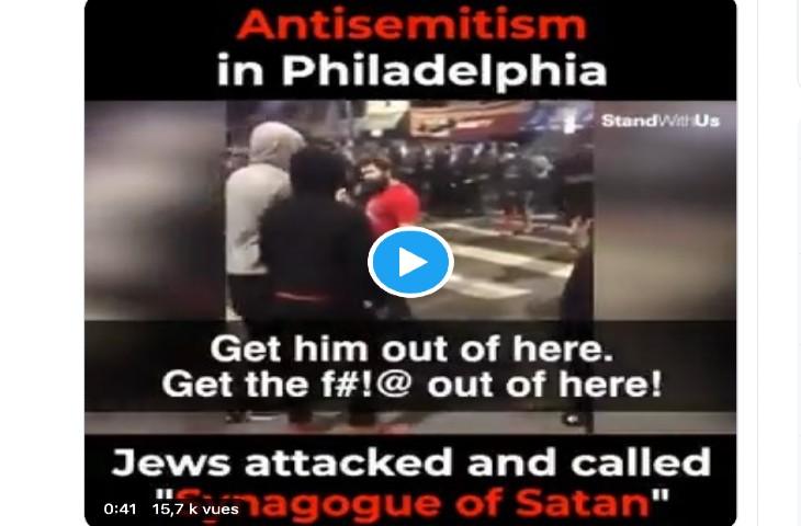 antisémitisme Philadelphie BLM
