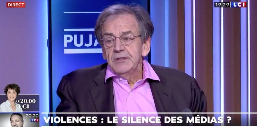 """Alain Finkielkraut sur les violences """"Les violences ne sont pas reprises par la majeure partie des médias. Les médias nous font vivre dans une réalité parallèle. C'est une forme de censure et du politiquement correct"""" (Vidéo)"""