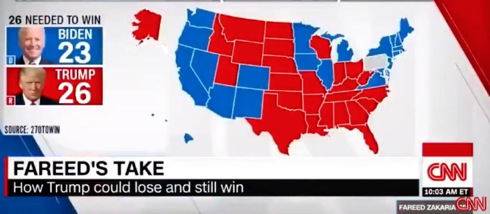 Incroyable: Le vent tourne, CNN, chaine de propagande démocrate, reconnait pour la première fois que Trump peut gagner les élections… pas un mot dans les médias français (Vidéo)