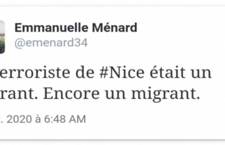 Emmanuelle ménard censurée twitter