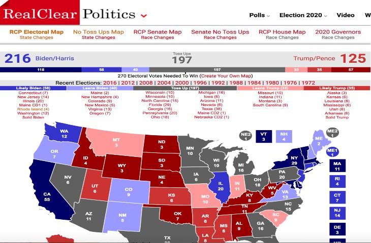 Real politics elections US 2020