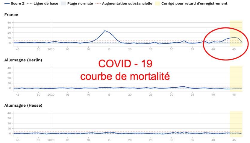 courbe mortalité Covid France