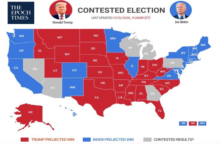 Fraude électorale: une analyse sur l'intégrité du vote démontre que des voix ont été ajoutées massivement lors de 4 mises à jours anormales dans les états du Michigan, du Wisconsin et en Géorgie