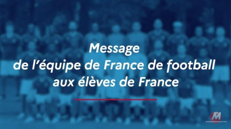 message équipe de france de foot