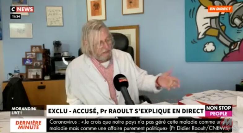 Professeur Didier Raoult: «Il n'y a pas de vaccin aujourd'hui, c'est de la science fiction ! Si c'est un vaccin qui est sûr, pourquoi pas. J'y croirai quand il existera» (Vidéo)