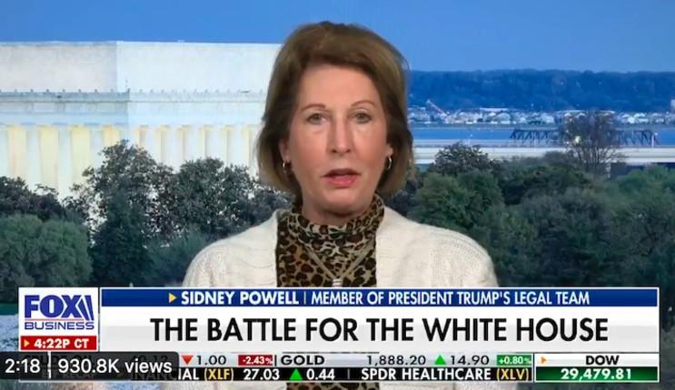 Sydney Powell : Trump a gagné de façon écrasante, ça va être irréfutable !