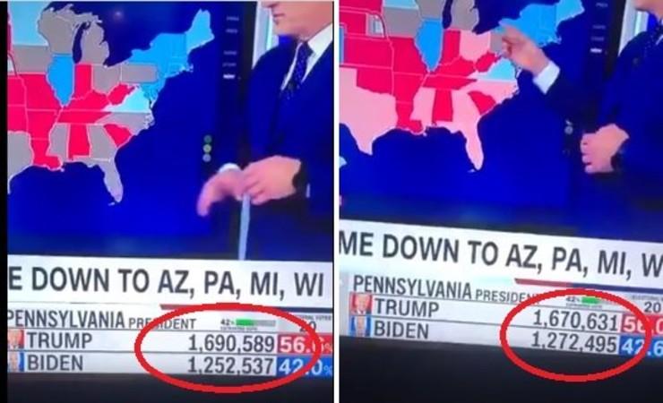 Vidéos incroyables: sur CNN, dans cinq États les votes sont changés en direct à la télévision, passant du président Trump à Biden
