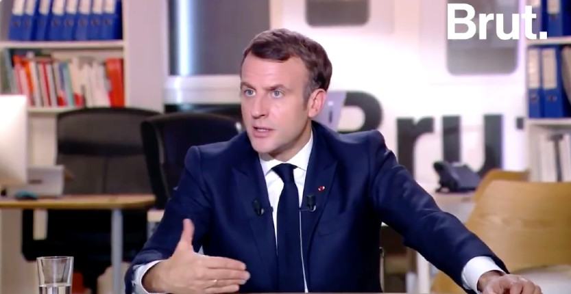 interview de Macron Brut