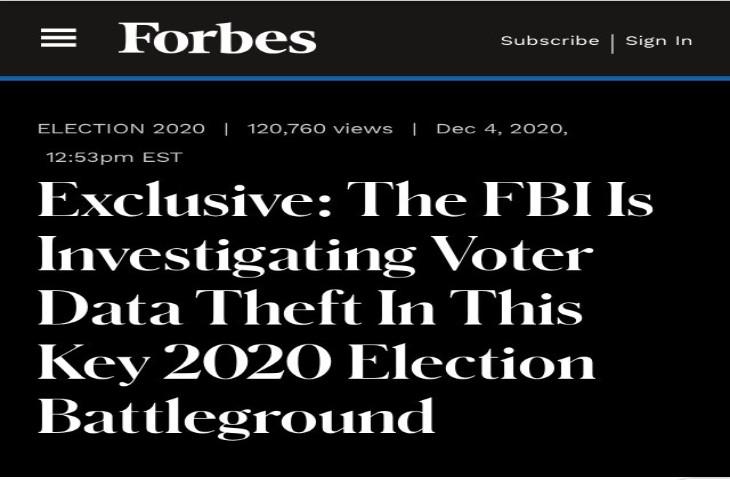 révélation de Forbes enquête FBI